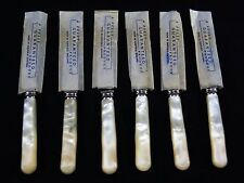 Set Of 6 ASHBERRY Stainless Tea Knives Faux Mother Of Pearl Handles.