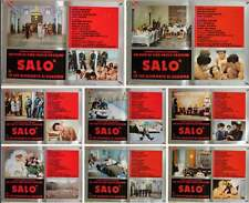 SALO OR THE 120 DAYS OF SODOM Italian fotobusta movie posters x8 PASOLINI 76 NM