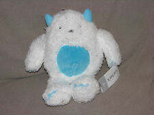 Carters White Aqua Blue Abominable Snowman Monster Yeti Plush Stuffed Toy 66939