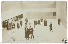 Bridport Walditch Roller Skating Rink Skaters on Floor RP by Brodbury Used 1909
