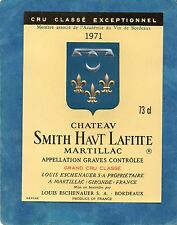 GRAVES GCC VIEILLE ETIQUETTE CHATEAU SMITH HAUT LAFITTE 1971  §21/05§