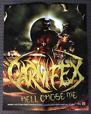 CARNIFEX POSTER Hell Chose Me Promotional Poster RARE Deathcore/Heavy Metal