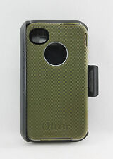 OtterBox Defender iPhone 4/4S Hard Case w/Holster Belt Clip Olive Green USED