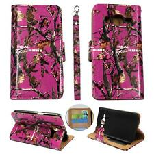 For Samsung Galaxy Core Prime S820 Ck Wallet Camo Pink RGHT Cover Case Uni