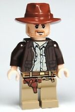 LEGO INDIANA JONES MINIFIG w/ WHIP & GUN minifigure from set 7621 iaj001