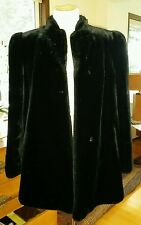 Vintage Intrigue Glenoit Vegan Faux Fur Jacket Short Coat Women 12 Black Evening