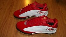 NEW Mens Reebok NFL Equipment US Sz 13 Red White Cleats Sports Shoes RB408K