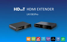 Up to 120m/394Ft,HDbitT HDMI over IP CAT5/5e/6 Extender with HDMI loop-out 1080P