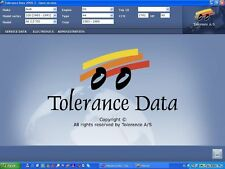 TOLERANCE DATA 2009.2 WORKSHOP MANUAL CD version