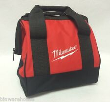 """New Milwaukee Heavy Duty Contractors Bag for M18 M12 Combo Kit 11"""" x 10"""" x 10"""""""