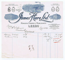 1933 Billhead - James Hare, Coronet Silks, Linings, bunches of Leeds Yorkshire
