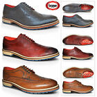New Mens Brogues Leather Lace Up Wingtip Oxford Smart Formal Dress Evening Shoes