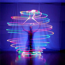LED Multi-Coloured Glow POI Thrown Balls Light up For Belly Dance Hand Props JXK