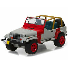 Greenlight 1993 Jeep Wrangler YJ Diecast Model Car 1:64 Red/Grey 29856