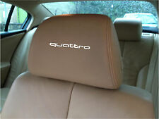 AUDI QUATTRO  CAR SEAT / HEADREST  - BADGE - Vinyl Stickers - Graphics X5