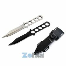 Steel Scuba Diving Fixed Blade Knife Survival Dive Hunting Serrated Dagger Hot