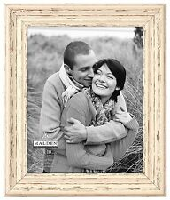 "Malden International Designs Off White Distressed 8x10"" Wood Picture Frame , New"