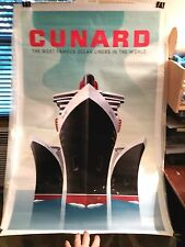 2010 Cunard ART DECO Vintage Style Travel Poster - 24x36