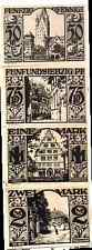 1921 Germany Paderborn set of 50 75 100 and 2 Mark Notgeld
