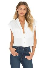 NWT The Safari Crop Top Blouse L'Academie Ivory- Small