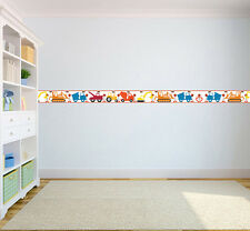 Construction Diggers Children's Bedroom Adhesive Wallpaper Border Boys Nursery
