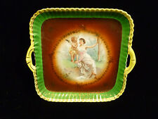 VINTAGE DECORATIVE CICO GERMANY BAVARIAN PORCELAIN PORTRAIT TRAY  WOMAN & CHERUB