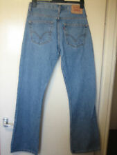 C15 ) MENS LEVIS STRAUSS 507 STRAIGHT LEG BLUE JEANS  ZIP FLY   W 32  LEG 34