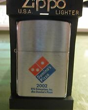 RARE DOMINO'S PIZZA ZIPPO LIGHTER EXCELLENT IN BOX 2002