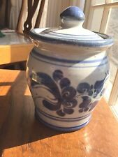Signed Studio Pottery Covered Jar signed SP