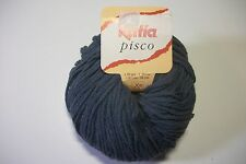 Katia Pisco yarn cotton/acrylic/linen 50 gr/98 yds #16 dk country blue