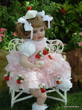 Retired Fayzah Spanos Stawberry Sweet 26 Inch Vinyl doll Golden Brown Eyes Blond