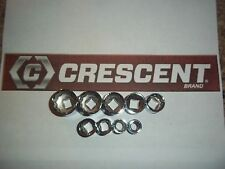 NEW CRESCENT HAND TOOLS 9pc 3/8 Dr SAE STANDARD 12pt ratchet wrench socket set