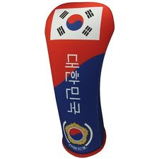 KOREAN FLAG DRIVER 460CC Golf Club Head Cover Cover Easy ON & Off USA MADE