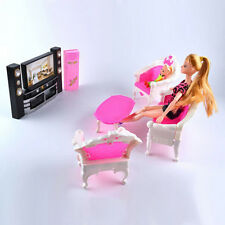 Toy Room Barbie TV Dollhouse Living Accessories Combo Theatre New Set Furniture