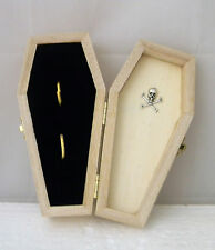Wedding Party Ceremony Gothic Wicca Skull Tombstone Coffin Ring Bearer Box