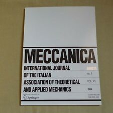 Meccanica 41_1 2006_International Journal of Theoretical and Applied Mechanics
