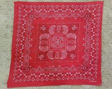 VTG Mid Century Elephant Trunk Up Fast Color Red Bandana VERY RARE PATTERN