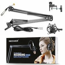 Neewer Black NW-35 Metal Suspension Boom Scissor Arm Stand with Built-in XLR