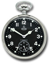 CABOT WATCH COMPANY CWC MILITARY ISSUE POCKET WATCH [37664]