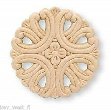 "Birch Applique ~ Large Flower Medallion ~ REAL WOOD { 3-3/4"" Dia. } ~ by  PLD"