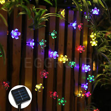 Solar 7M 50LEDS Flowers Fairy String Lights Xmas Outdoor Garland Multi Color New