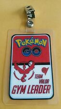 Pokemon Go ID Badge-Team Valor Gym Leader cosplay costume