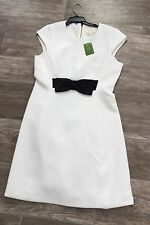 NWT $328 Kate Spade New York A Line SZ 10 Black Bow Dress