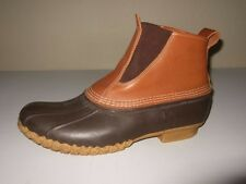 RARE LL Bean Brown Pull On Duck Rubber/ Leather Hunting Boots Mens Sz.13