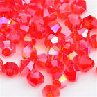 300pcs red ab exquisite Glass Crystal 4mm #5301 Bicone Beads loose beads!