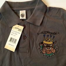 New Ed Hardy Boys Grey Polo Shirt Size M/10