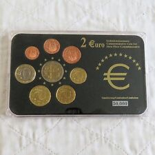 SPAIN 2005 COMMEMORATIVE 2 EURO IN 8 COIN EURO TYPE SET - pack/coa