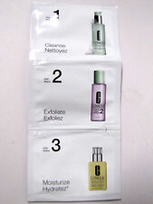 CLINIQUE FACIAL SOAP CLARIFYING LOTION MOISTURIZING LOTION + SAMPLE SET LOT OF 2
