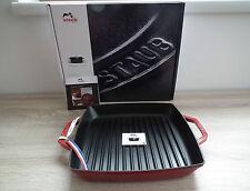 STAUB Grillpfanne 33 x 33 cm Gusseisen Steakpfanne rot kleiner Fehler 25% Rabatt