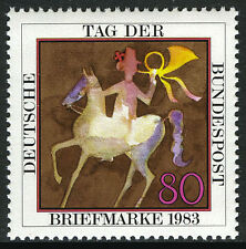 Germany 1405, MNH. Stamp Day. Post rider, 1983